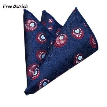 Free Ostrich Luxury Men's Handkerchief Printed Hankies Polyester Business Pocket Square Chest Towel Toalla Cuadrada De Negocios