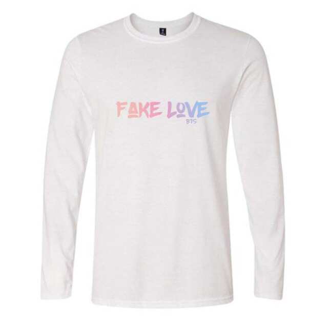 FAKE LOVE Women   Men s bts Bangtan Boys Baseball Casual Long Sleeve T-shirt  Top Albums Bangtan Boys Fans Hip-Hop Cotton T-Shirt 2f4907539f