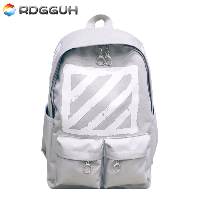 RDGGUH New Casual Canvas Backpack Women High Quality Small Printing Backpack For Girls Famous Brand Student