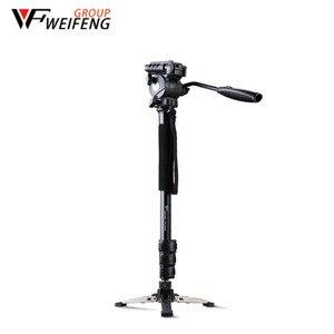 Image 1 - Tripod Weifeng WF 3958M WF 3958M kamera tripodlar Monopod SLR fotoğraf makinesi taşınabilir seyahat tripodlar destek ayak tripodlar