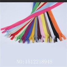 51 шт. 3#22 дюйма(55 см) нейлон шифон невидимые застежки-молнии для шитья пошива аксессуары 17 цветов