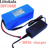 LiitoKala New 36v 42 lithium battery 10ah lithium ion battery 18650V 10000 mAh 10s4p bms large capacity electric bicycle charger