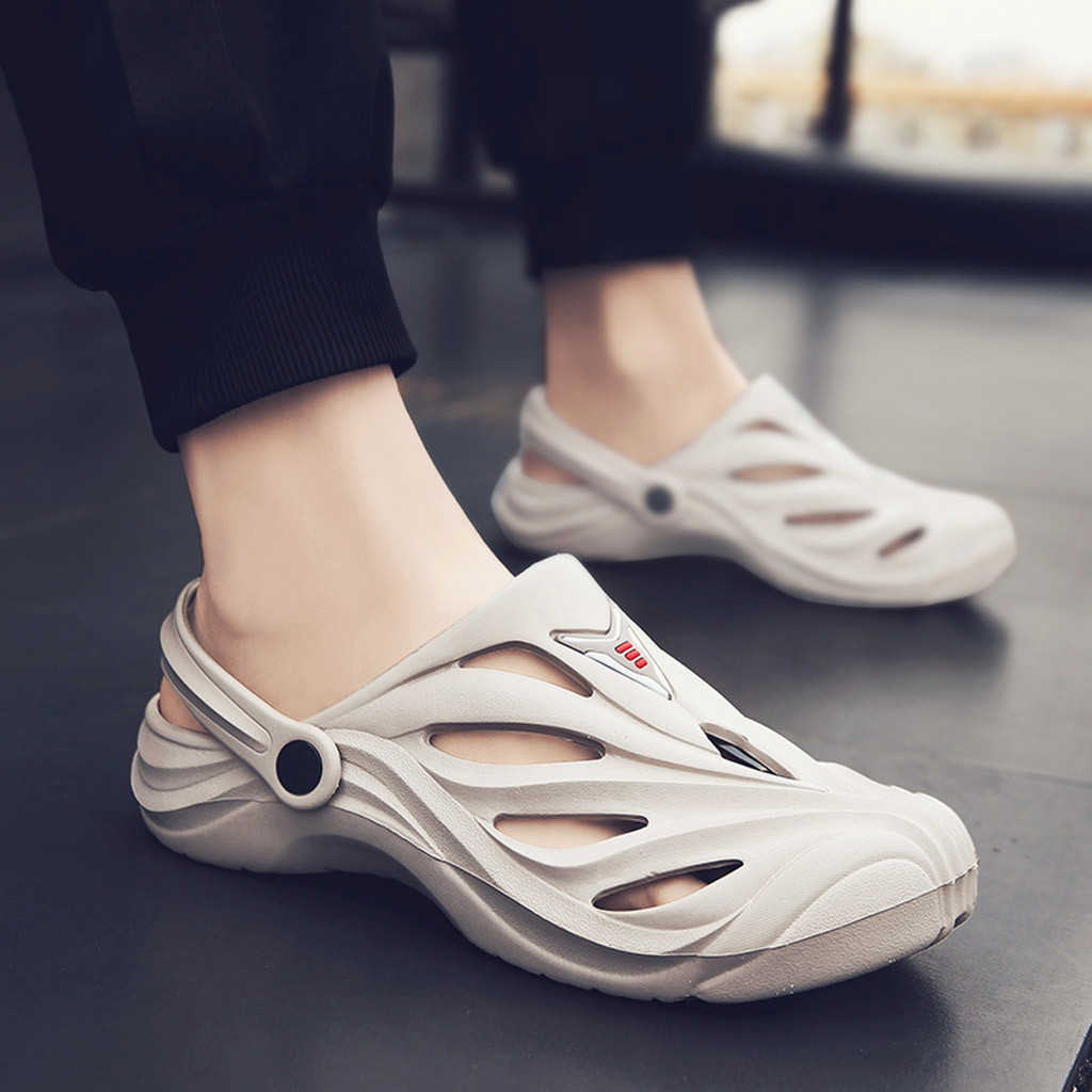 2019 New Summer Slippers EVA Massage Unisex Sandals Men Sandals Fashion Hollow Out Breathable Beach Slippers Flip Flops  Apr3|Flip Flops|   - AliExpress