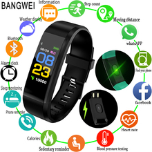 BANGWEI 2018 New Smart Sports Watch Heart Rate Sleep Monitoring Fitnes Supports USB Charging OLED Color