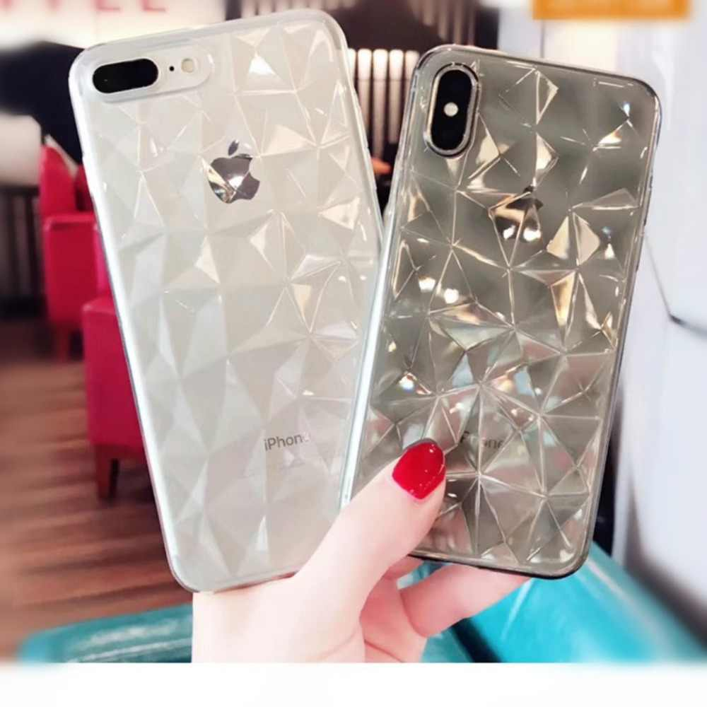 3D Luxury Case For Funda iphone xs max Transparente Girly Pink Clear Soft Back Cover For iphone 5se 5s 6s 7 8 plus x xs xr