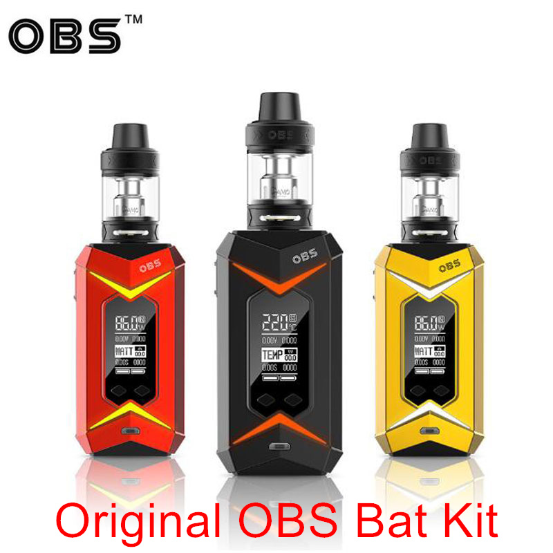Original OBS Bat 218W TC Box vape Kit Damo TC Kit Vape mod with 5ml Demo subohm Vapor tank vaptio c2 vapor kit built in 3000mah battery with vape pen tank 0 25ohm 4ml capacity c ii vape kit