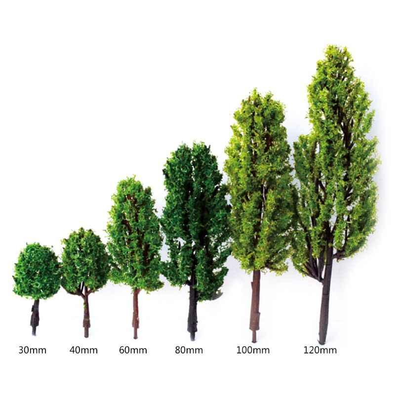 2 uds árboles de goma miniatura DIY Micro jardín maceta de flores bonsái casa de muñecas decoraciones de escritorio modelos de construcción suministro