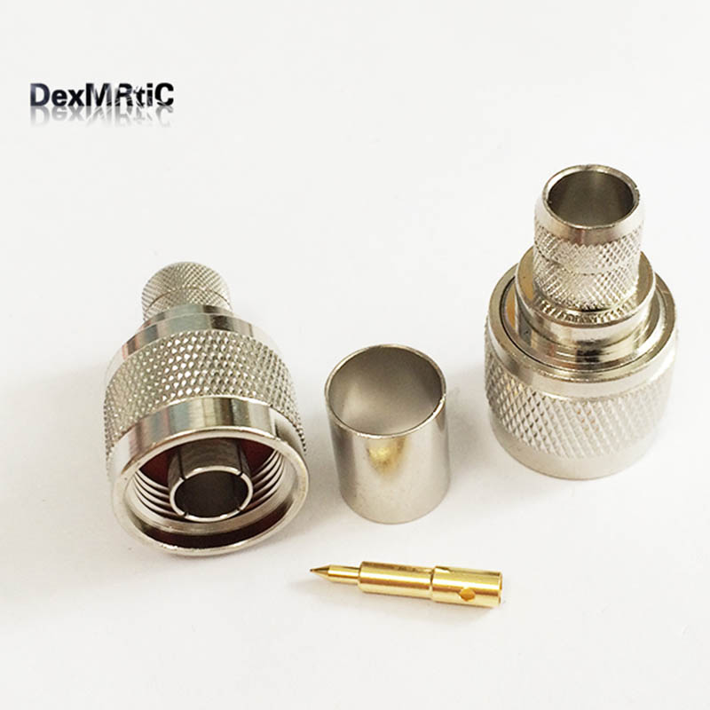 1 шт. N Тип штекер RF разъем обжимной для LMR400 RG214 RG8 кабель Прямой
