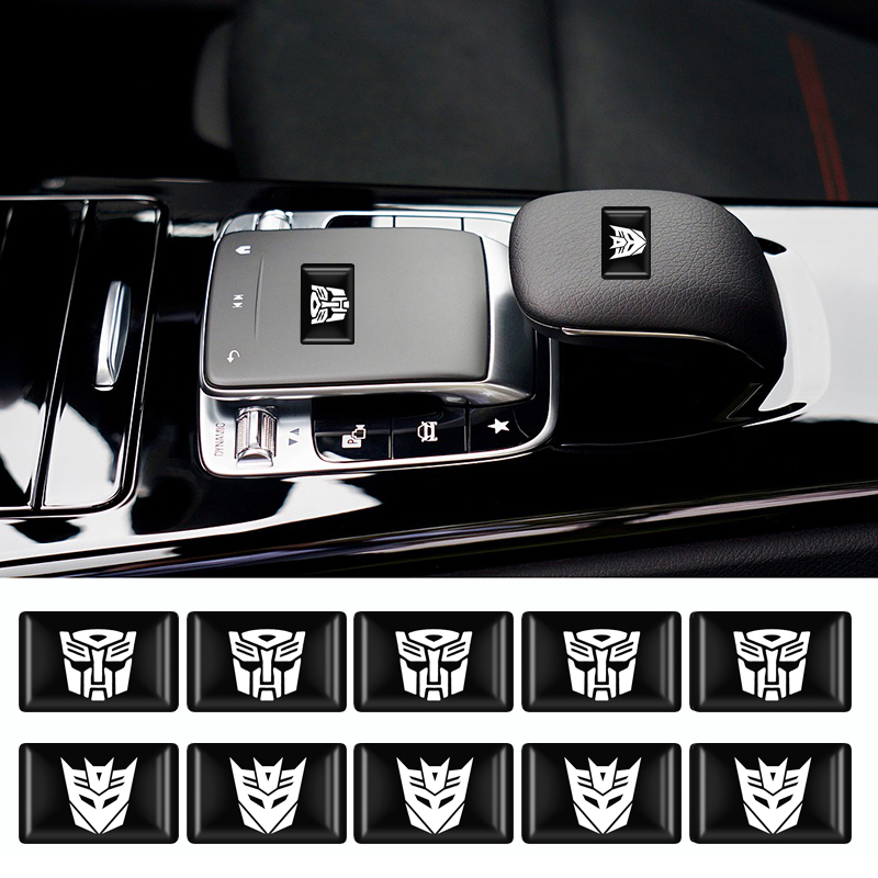 10pcs/lot 3D Car Small Decorative Sticker Transformers Emblem Decal For Car Auto Steering Wheel Decoration Sticker Car Styling