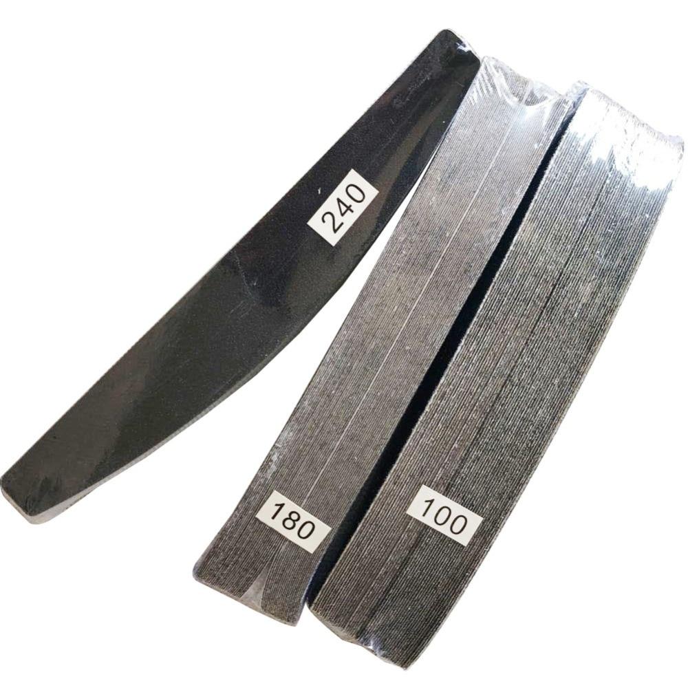 3 комплекта (150 шт.) Съемные прочные накладки для пилки для ногтей сменная наждачная бумага в форме полумесяца печатная доска