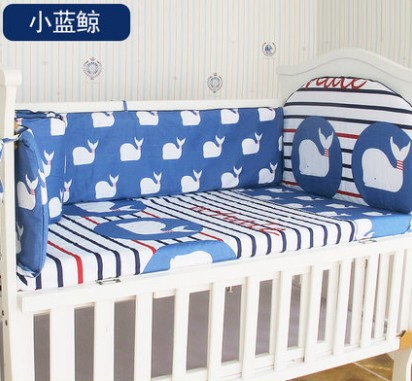 Promotion! 5PCS crib baby bedding set with head bumper baby sheet  ,include:(bumpers+sheet)