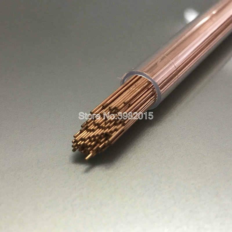 Tubo de electrodo de cobre de un solo orificio 0,6*400mm para máquina de perforación WEDM