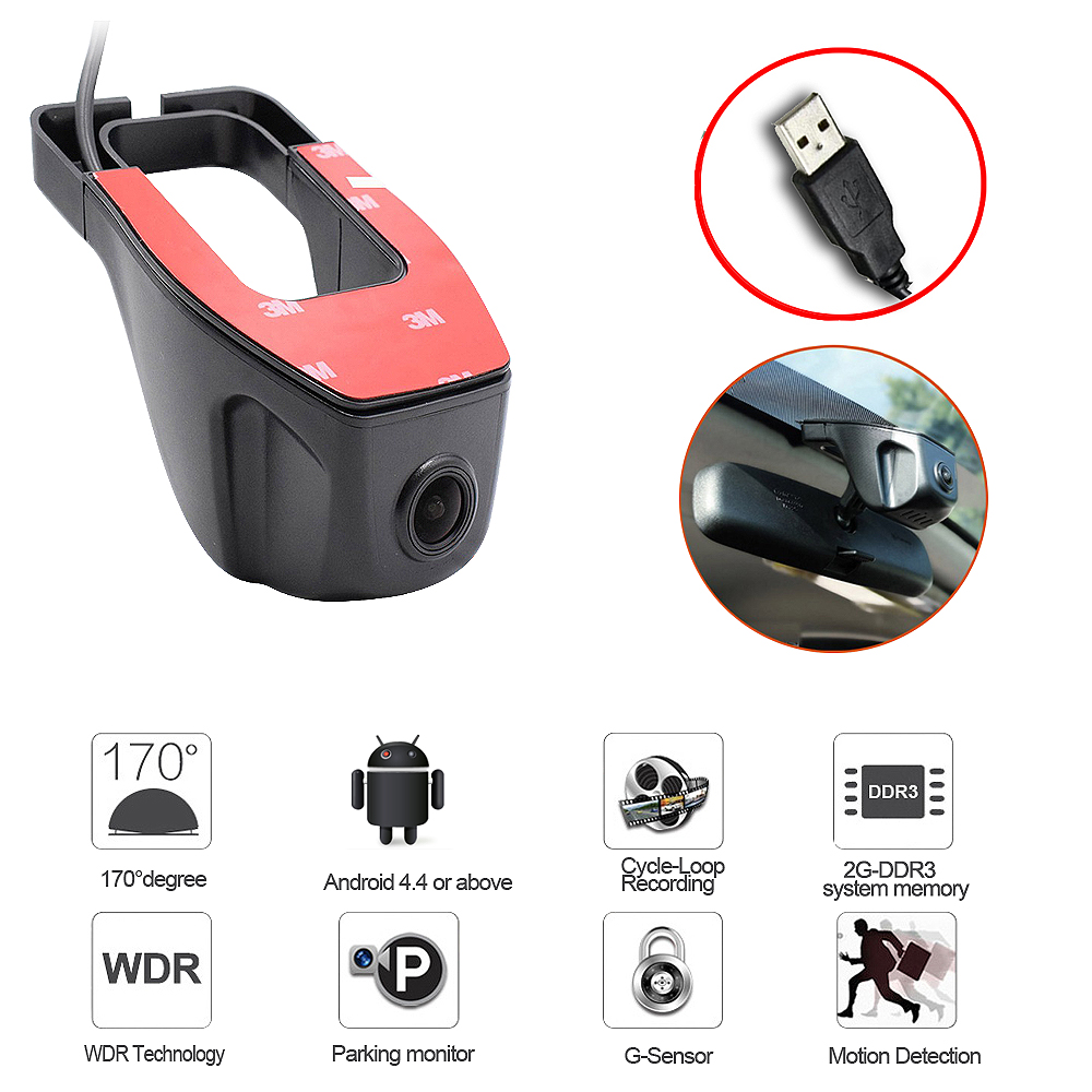 2018 New adas USB Car DVR Camera Driving Recorder HD 720P Video Recorder For Android 6.0 7.1 4.4 DVD GPS Player DVR Camera