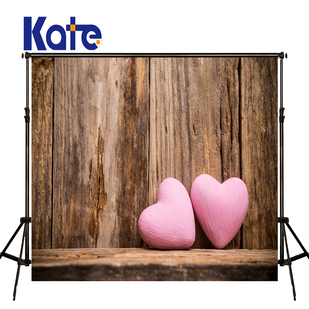 KATE Valentine'S Day Background  Photography Backdrops Old Wooden Wall and Floor Backdrop Vintage Wedding Backdrop for Photocall