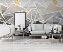 Custom wallpaper mural hand-painted geometric landscape scenery TV bedroom living room background wallpaper...