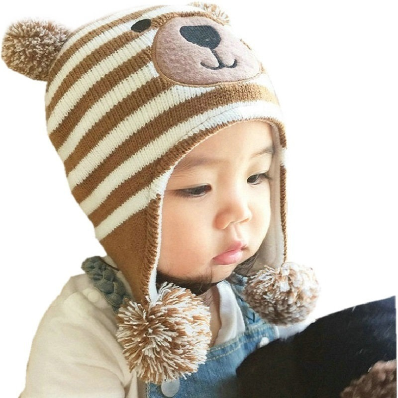 2017 New LANGZHEN Baby Hats 3 Sizes 1-5 Years Boys Girls Hats Kids Winter Hats Bonnet Enfant Hat For Children Baby Muts KF039 hats