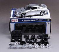 Maisto 1:24 2009 NISSAN GTR R35 Assembly DIY Racing Car Diecast MODEL KITS NEW IN BOX