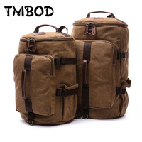 New 2019 Men Barrel shaped Backpack For Male 2 size Canvas Travel Bag Multifunctional Causal Tote Shoulder Bags Bolsa an687