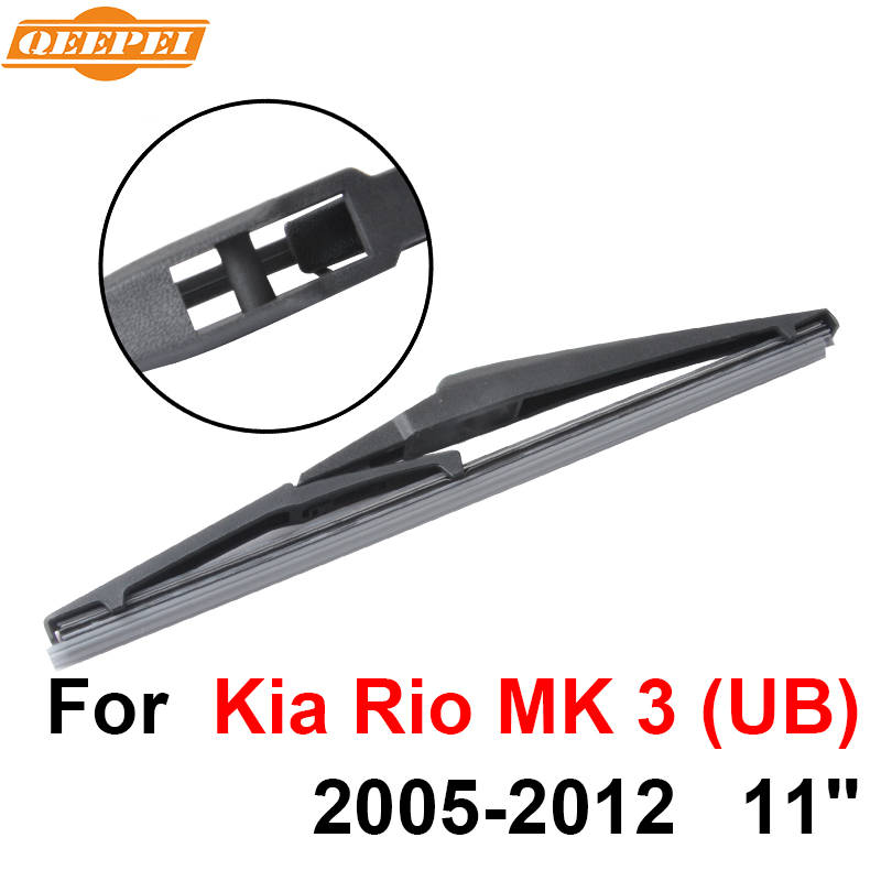 QEEPEI Rear Windscreen Wiper No Arm For KIA Rio MK 3 (UB) 2005-2012 11'' 5 door hatchback High Quality Iso9000 Natural Rubber
