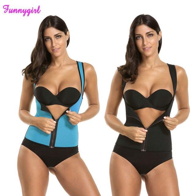 63ee5d36a25ff 2018 New Body Shaper Shirt Women Neoprene Slimming Shaper Hot Shapers Slim  Shirt Redu Tops Chest