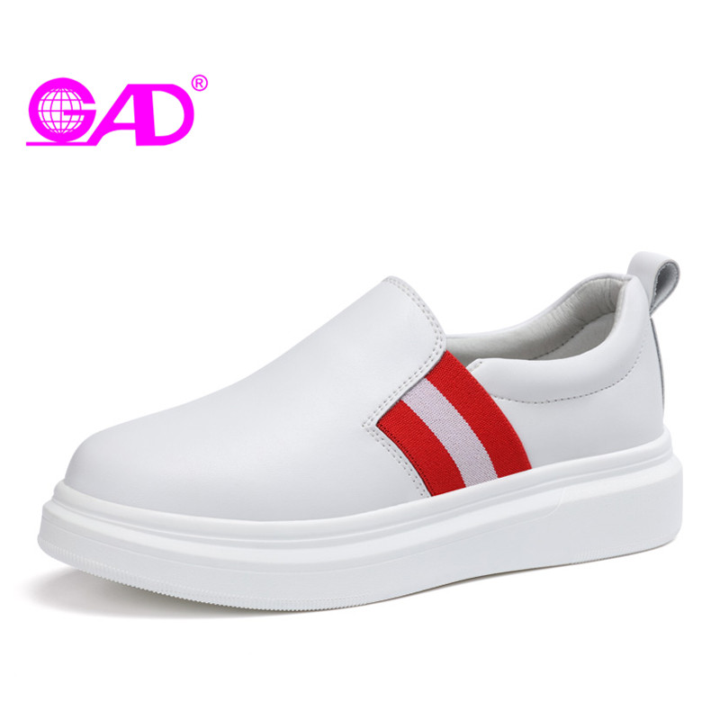 GAD New Fashion Women Loafers 2018 Spring/Autumn High Quality Slip-on Casual Flat Comfortable Classic White Women Casual Shoes spring and autumn new women fashion shoes casual comfortable flat shoes women large size pure color shoes