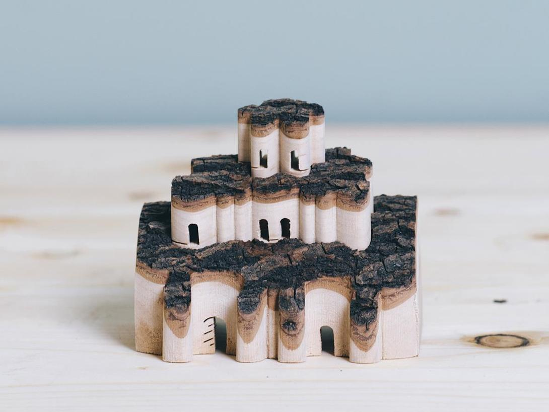 Handicraft toy DIY Wooden Doll House Castle Building Blocks Children Handcraft Miniature Projec Kit Manual Assembly 3D Model