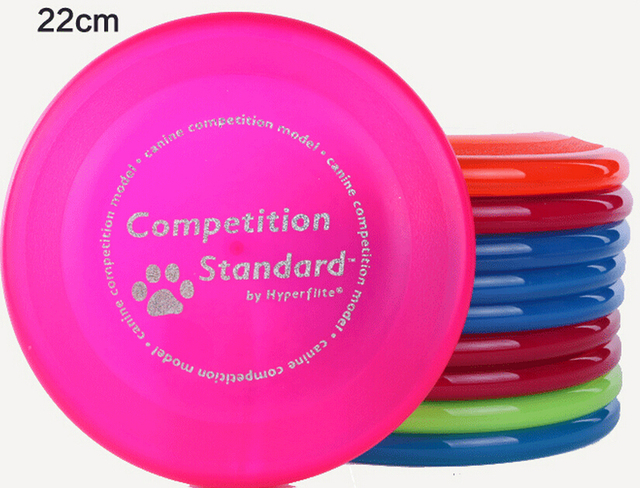 1 piece 22cm HyperFlite high quality dog toys pet Ultimate Disc fun ourdoor sports flying saucer leisure lawn game match