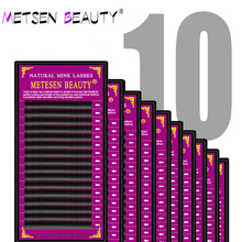 METESEN BEAUTY bulk 10 cases individual eyelashes popular mink  lashes extension wholesale natural eyelash cilia lash