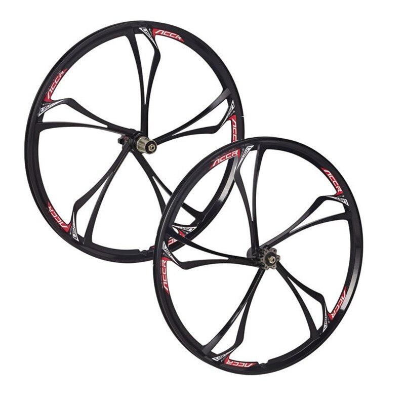 Roues de VTT en alliage de magnésium roue de vélo de route avant et arrière vtt 26 pouces 2 pièces
