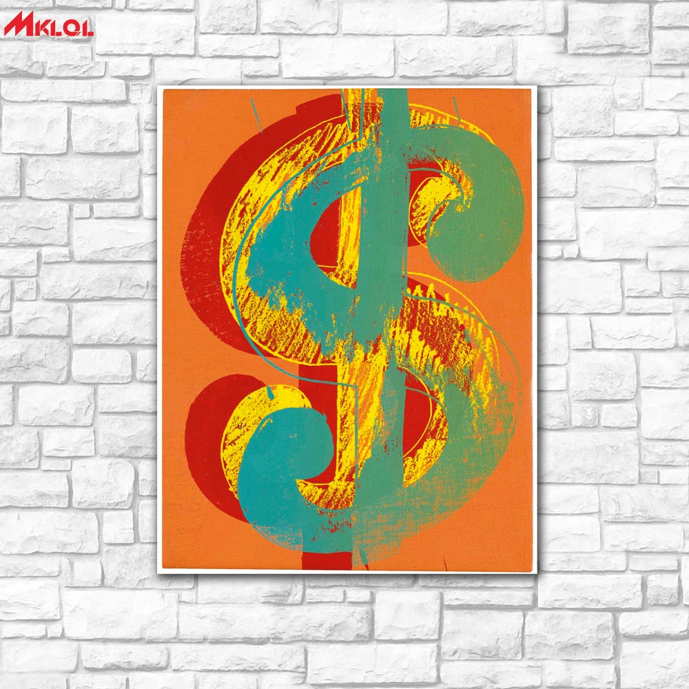 Wall Art Dollar mark American painting Painting For Living Room Home Decoration Oil Painting On Canvas Wall Painting no fram 9