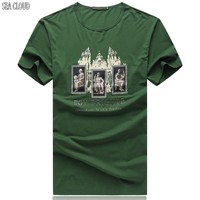 85 Free shipping 6XL 8XL t shirt cotton tshirt fashion short sleeve owl printed men tshirt cool funny men's tee shirts tops men
