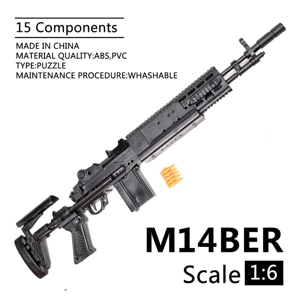 1:6 1/6 Scale 12 Inch Action Figures M14BER Mk 14 Mod 0/1 Enhanced Battle Rifle Model Gun Fix 1/100 MG Bandai Gundam Model Toys