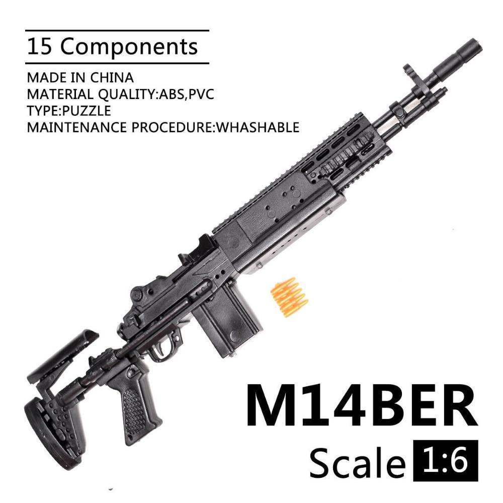 1:6 1/6 Scale 12 Inch Action Figures M14BER Mk 14 Mod 0/1 Enhanced Battle Rifle Model Gun Fix 1/100 MG Bandai Gundam Model Toys