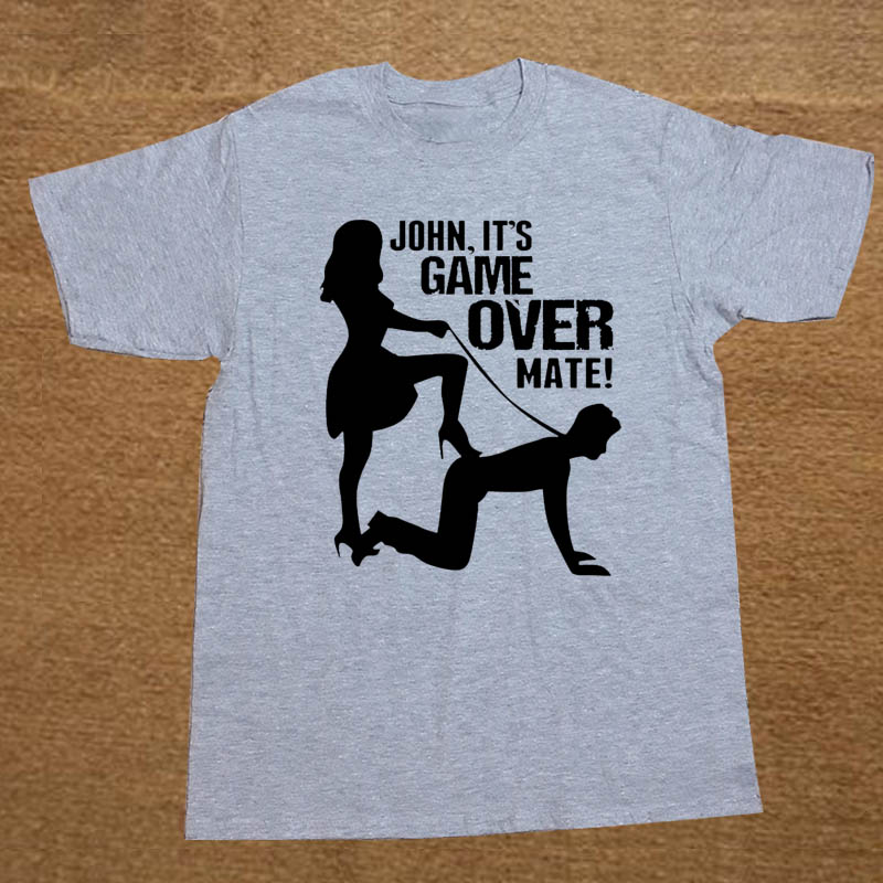 Its Game Over Personalised Custom Wedding Marriage Funny T Shirt Men Short Sleeve Printed Cotton Cartoon T-shirt Tops