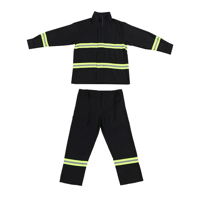 7883ca561e4e Fire Fighting Suit Fireproof Waterproof Flame retardant with reflective  strap Flame Retardant Protective Clothes-in Safety Clothing from Security  ...