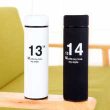 цена на Fashion 1314 Double layer stainless steel thermos cup for lovers 500ml 6.5*6.5*22.5cm Free shipping