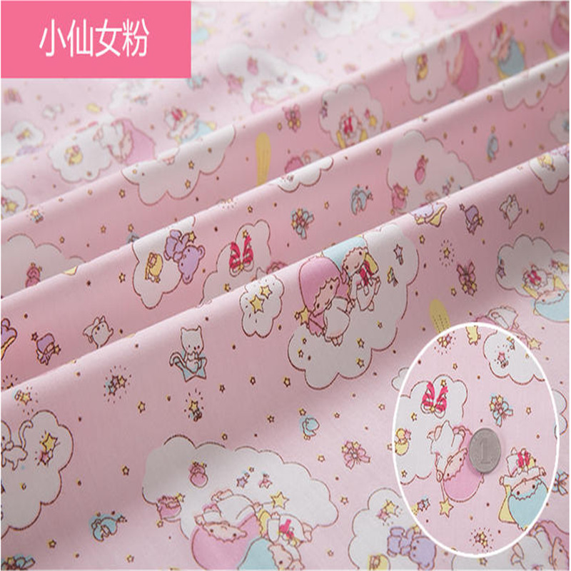 2016 hot little fairy printed 100 high density cotton for Sewing material for sale