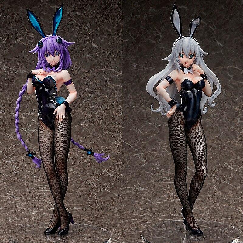 43 cm libérant Sega Neptune Hyperdimension Neptunia coeur violet Neptune coeur noir lapin Noire fille sexy Anime figurine jouet