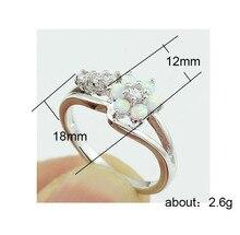 hot deal buy flower ring ladies jewelry opal halloween jewelry  fine jewelry  jewlery  opal ring  fleur de lis