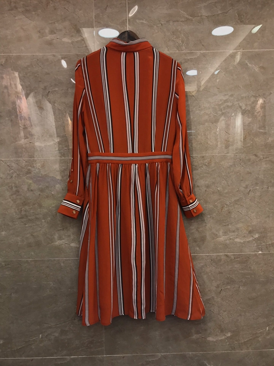 2019 Nouveau Rayée Haut Chemise Gamme De Robe Col 226 Femmes Mince Défilé Mode wwxzFpdq