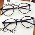 Diseño Ultra Luz de La Marca de La Vendimia Grandes Gafas de Marco Redondo Gafas Marcos de anteojos ópticos marcos Eyeglsses para mujeres Hombres 066