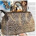 Leopardo de alta Qualidade À Prova D' Água das Mulheres Bolsas de Grande Capacidade de Bagagem Saco De Viagem Senhoras Hobo Shopper Bag