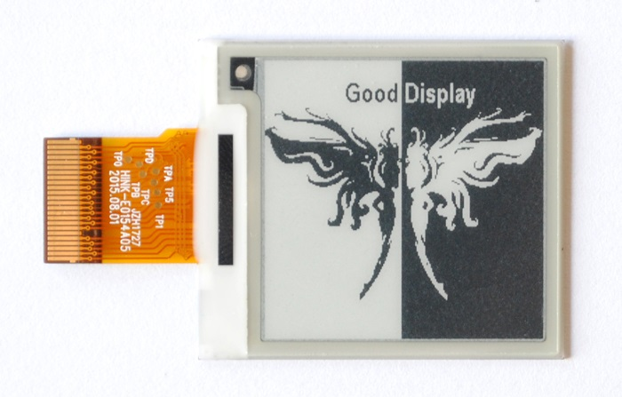 1.54 Inch HD 200*200 E-ink Screen E Ink Module GDEH0154D27 184 DPI 600 Ms Response Time Electric Paper Screen SPI Eink