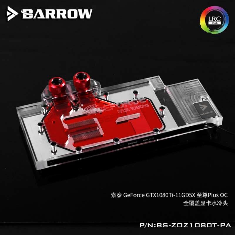Bloc d'eau de brouette GPU pour ZOTAC suprême Plus GTX1080TI LRC2.0 refroidisseur d'eau