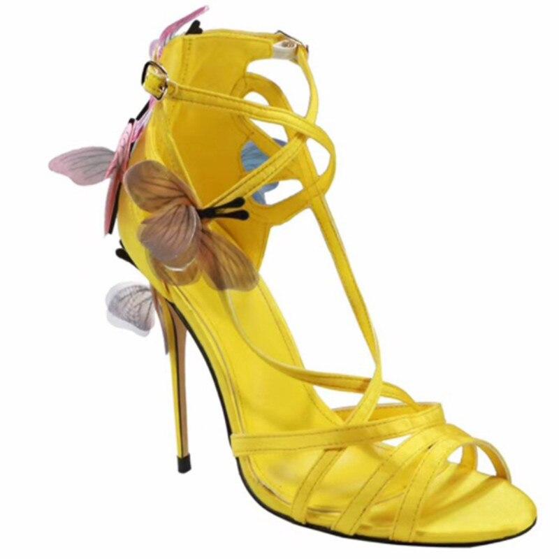 Boucle Picture Papillon Sangle Talons Mujer as Sandales Été Hauts Femmes Couleurs As Picture Cheville Mélangées Romaines Chaussures Sandalias Stiletto qBHYa