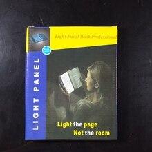цена на Light Panel Lightwedge LED Reading Book Flat Plate Portable Light Panel AAA battery Panel Book Night Light Free shipping 1pc