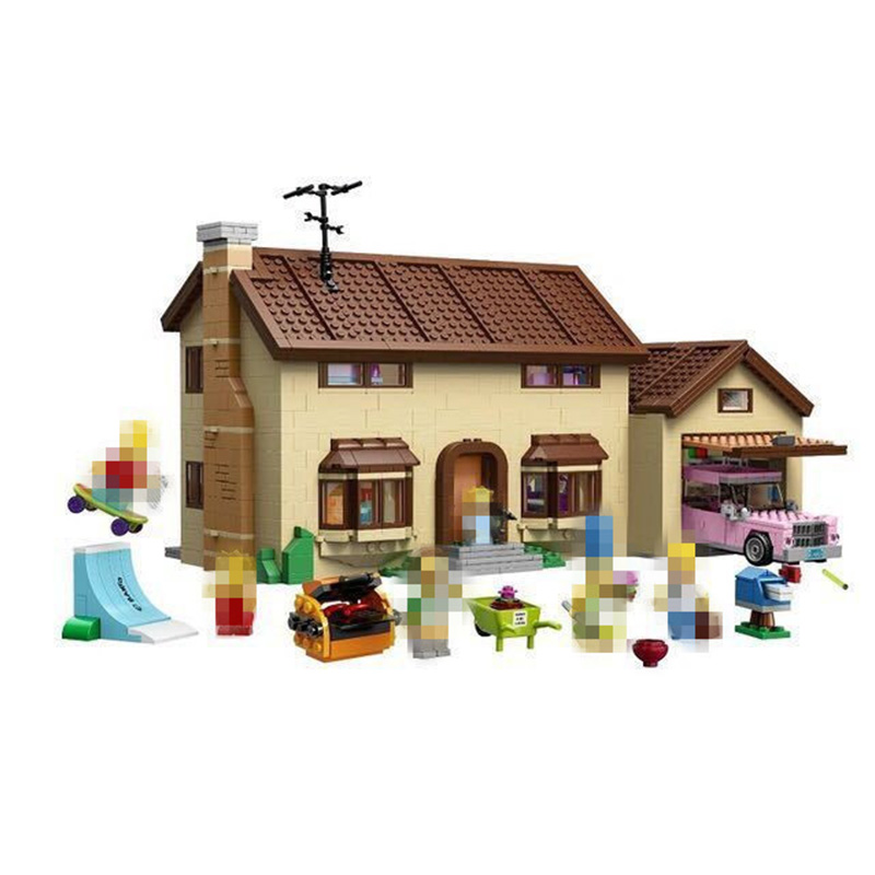 Building Blocks City Street 16005 2575Pcs the Simpsons House Model Compatible legoing 71006 Bricks Lepin city street in blocks lepin movie figures 16005 2575pcs the simpsons house model building kits blocks bricks educational kid toy compatible with 71006