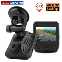 Buy Conkim Car DVR Camera Ambarella A12A55 Built-in Module GPS Track Video Recorder 2.31 inch LCD ADAS Function 2560x1440P Camera