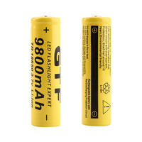 2pcs/lot High Quality 9800mAh 3.7V 18650 Lithium ion batteries Rechargeable Battery For Flashlight Torch Free shipping