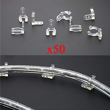 Buy rope light clips and get free shipping on aliexpress holder 50 pack 12 inches clear pvc rope light mounting clips led strip accessories aloadofball Choice Image